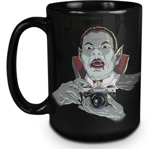 Vampire SLR 35mm Film Camera 15oz Black Mug - Shoot Film Co.