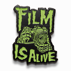 Film is Alive Glow in the Dark Lapel Pin - Shoot Film Co.