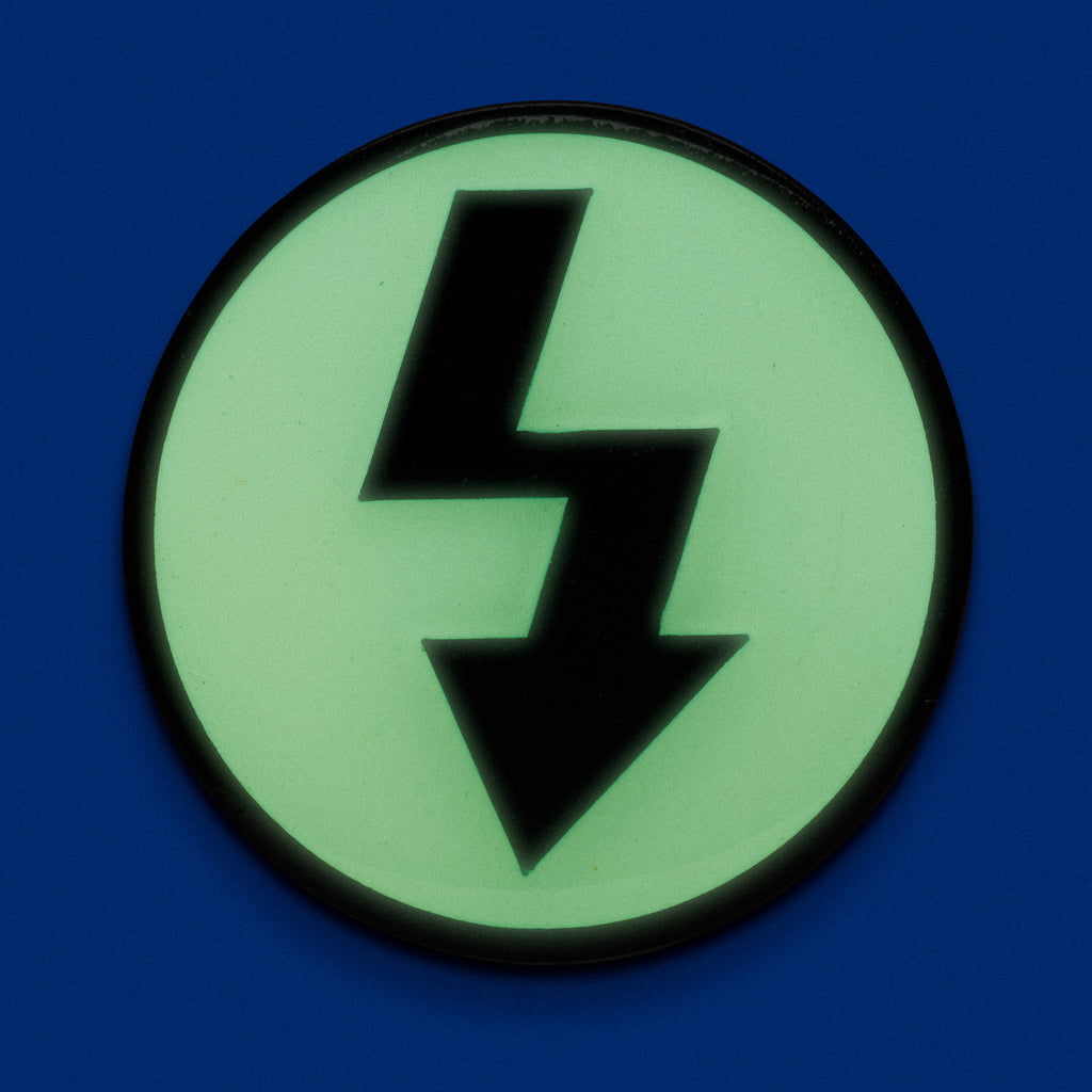 FLASH Glow In The Dark Lapel Pin