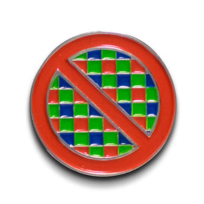 No Pixels Enamel Lapel Pin - Shoot Film Co.