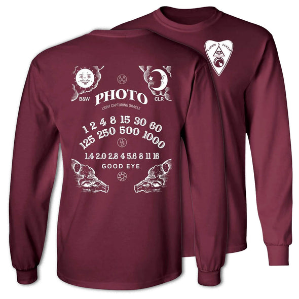 Light Capturing Oracle Ouija Board Long Sleeve Ultra Cotton T-Shirt - Shoot Film Co.