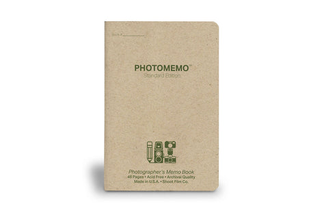 PhotoMemo Photographer's Memo Book SINGLE