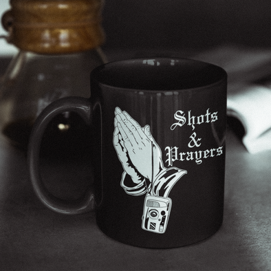Shots and Prayers 11 Oz. Ceramic Mug - Shoot Film Co.