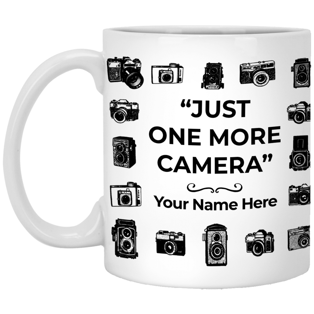 Camera Collection PERSONALIZED 11 oz Ceramic Mug