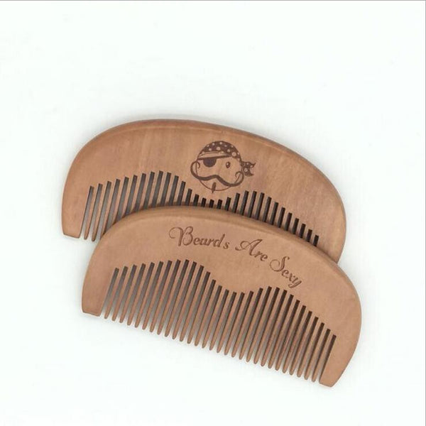 Wooden Beard and Mustache Comb All Natural Wood Men's Facial Hair