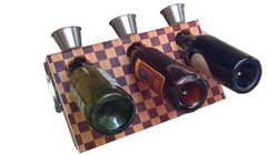 Handcrafted Magnetic Floating Wine Rack Cheese Boards