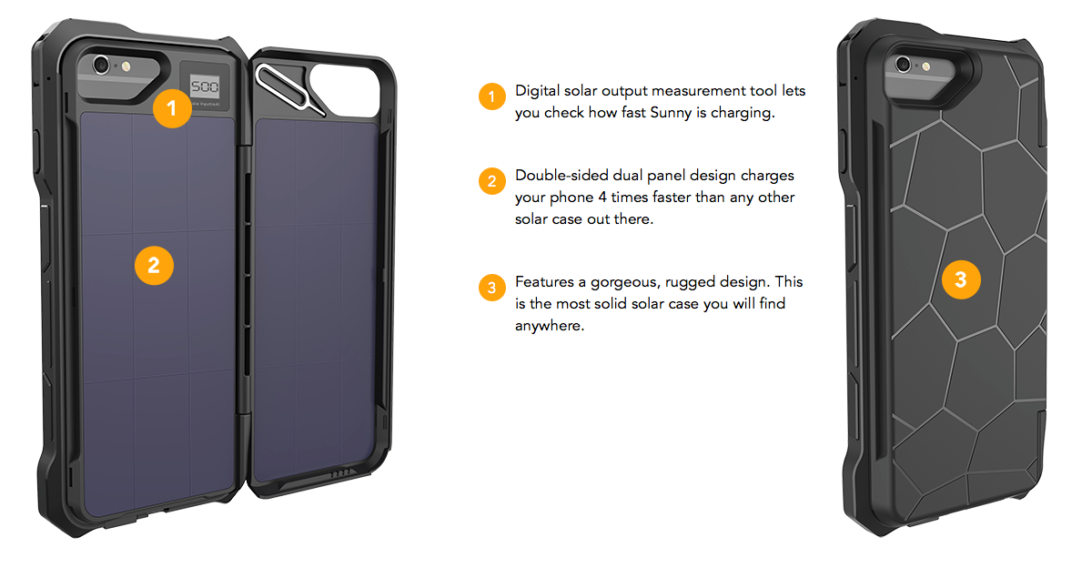 SUNNY - The only Solar Battery Case for iPhone that actually works ... a049b50fb8b3