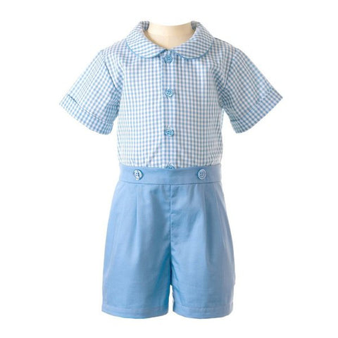 Gingham Shirt and Short Set