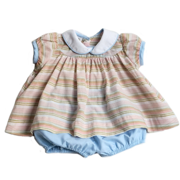 Molly Bloomer Set- Ice Cream Multi Stripe - Blue Bonnet