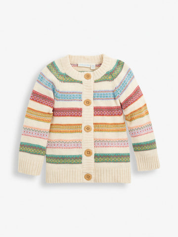 Stripe Fair Isle Cardigan