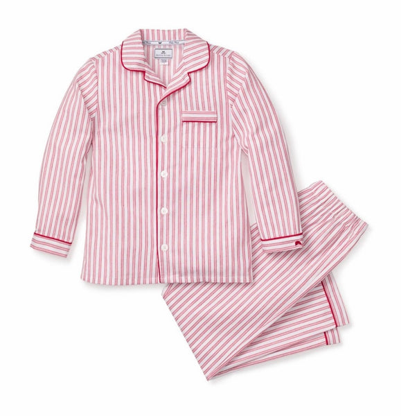 Red Ticking Stripe Pajama Set