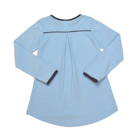Lindsay Tee- Light Blue/Navy