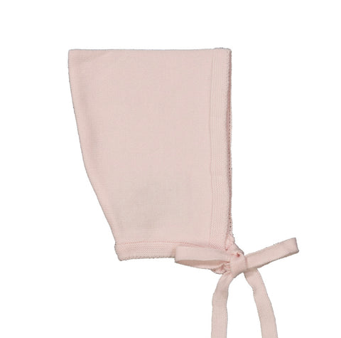 Pointed Knit Bonnet- Pink
