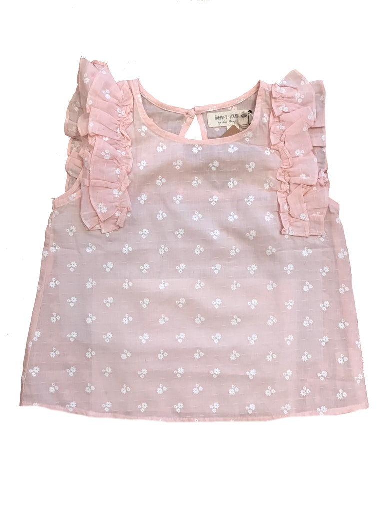 Maggie Ruffle Top- Light Pink