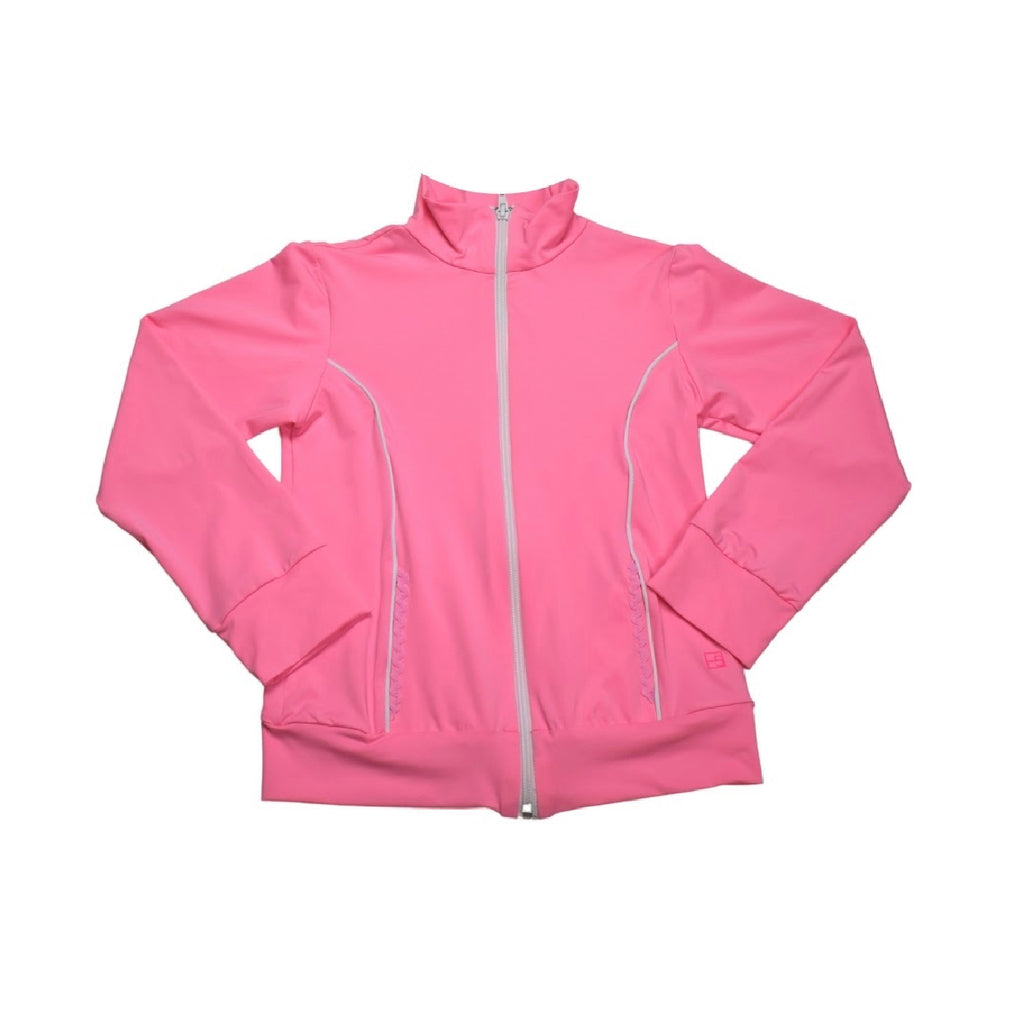 Juliet Dry Fit Jacket- Pink/ White