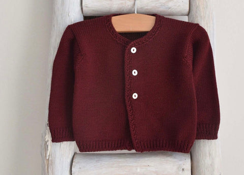 Presley Cardigan- Bordeaux
