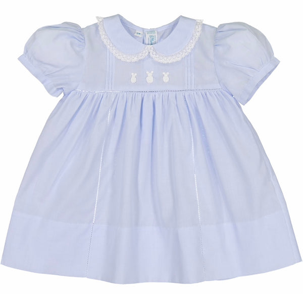 Bunny Dress- Blue - Blue Bonnet