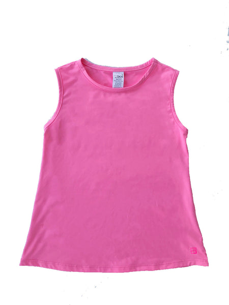 Tori Tank- Hot Pink - Blue Bonnet