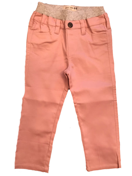 Stretch Pull On Skinny Pants- Dusty Pink