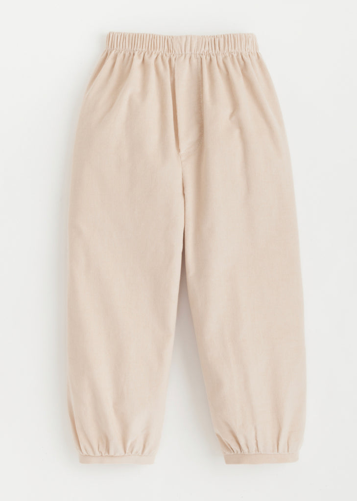 Banded Pull On Pants- Tan
