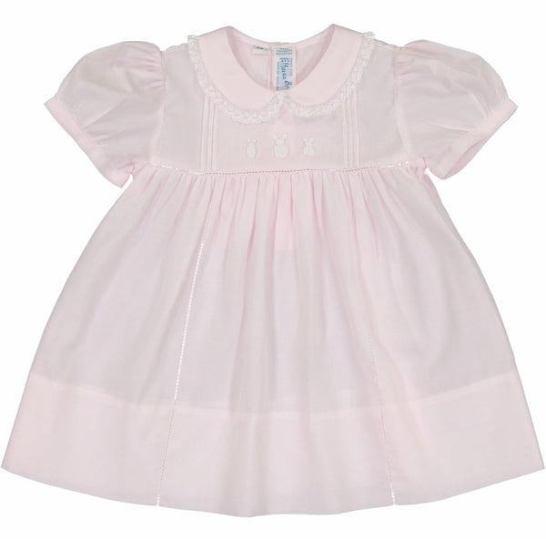 Bunny Dress- Pink - Blue Bonnet
