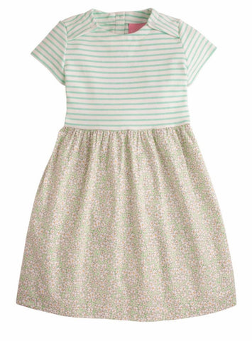 Rosie Dress- Green Daisies