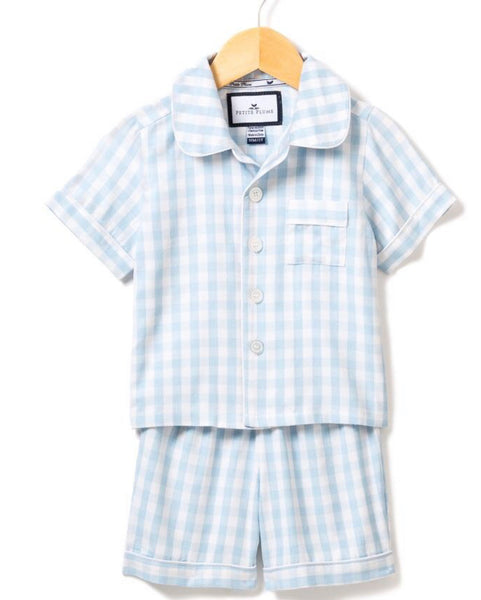 Gingham PJ Set- Blue *PREORDER*