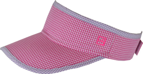 Victoria Visor-Pink/Purple Mini Gingham *PREORDER*