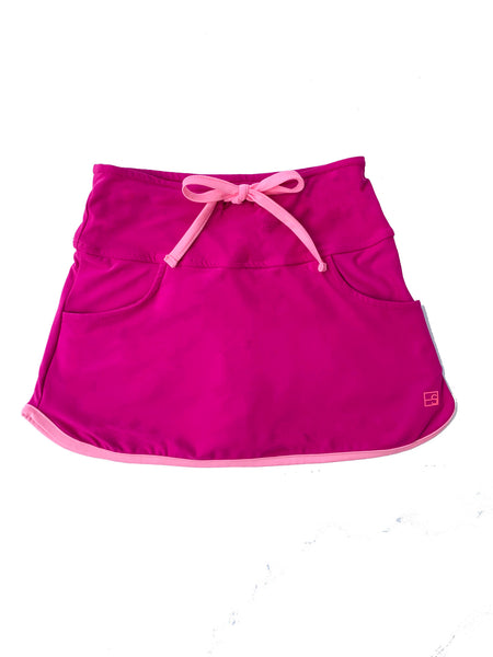 Tiffany Tennis Skort-Fucsia/Pink - Blue Bonnet