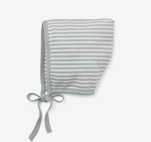 Mini Stripe Sage Bonnet