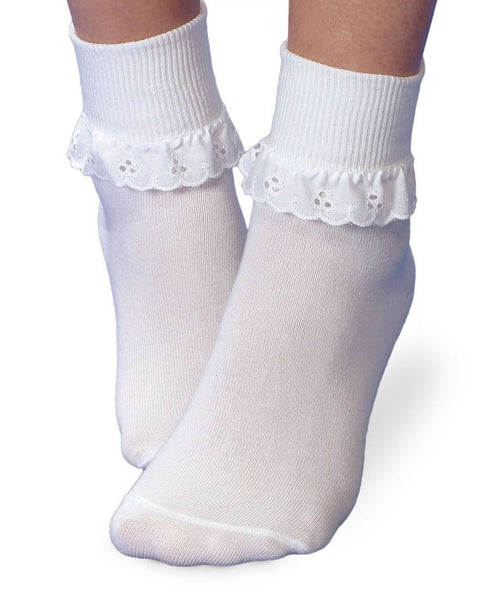 Eyelet Lace Socks - Blue Bonnet