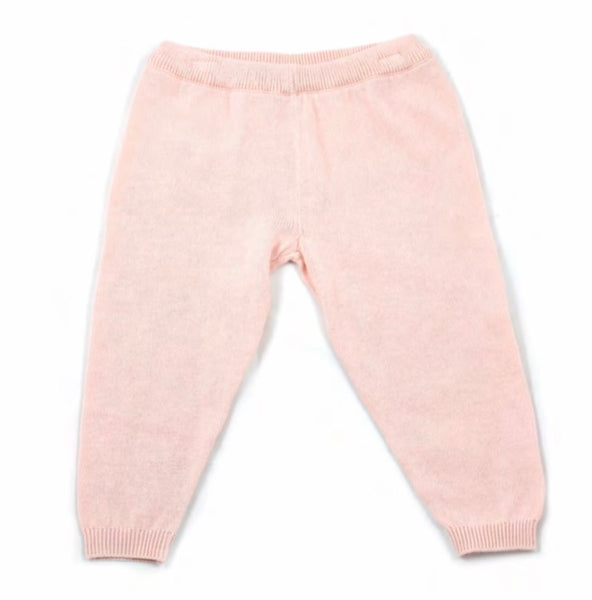 Milan Flat Knit Legging- Blush - Blue Bonnet