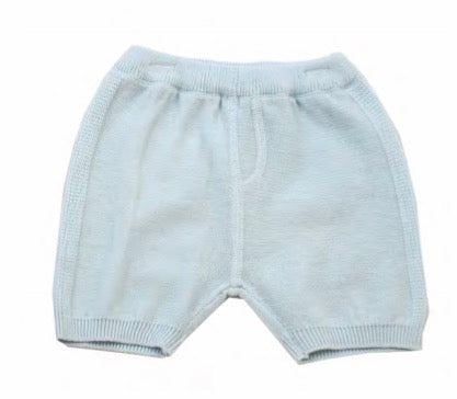 Milan Flat Knit Shorts with Pocket- Sky Blue
