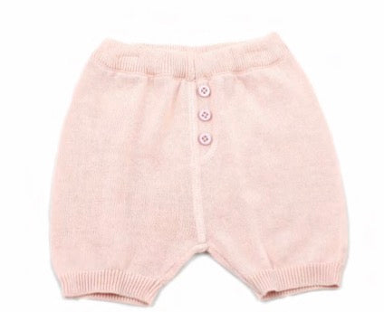 Milan Flat Knit Shorts with Pocket- Blush - Blue Bonnet
