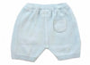 Milan Flat Knit Shorts with Pocket- Sky Blue - Blue Bonnet