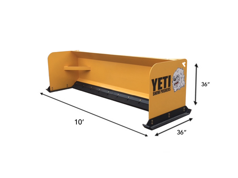 YETI SNOW BEAST - 10 FT. SKIDSTEER SNOW PUSHER | SNOW PUSH BOX