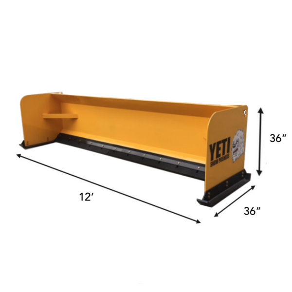 YETI ABOMINABLE - 12 FT BACKHOE SNOW PUSHER | SNOW PUSH BOX