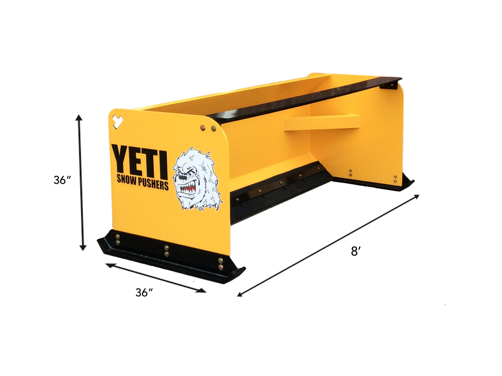 YETI SNOW BEAST - 8 FT SKIDSTEER SNOW PUSHER | SNOW PUSH BOX