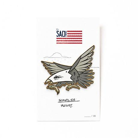 Sad Eagle Pin