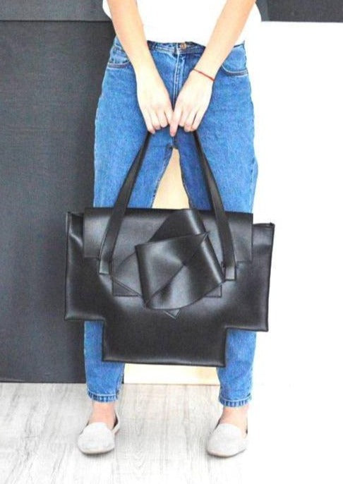 Large Geometric Vegan Tote - Chateau Hi