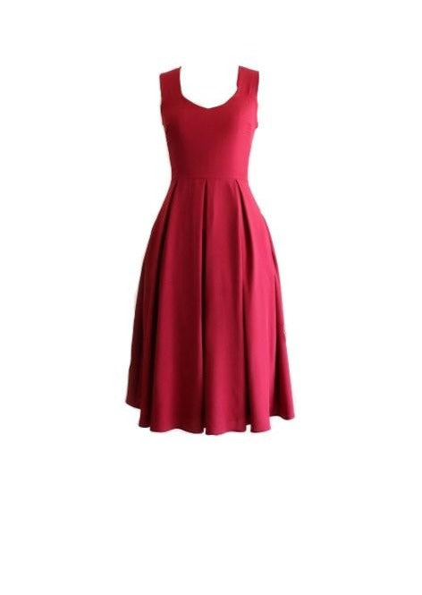 Apricity Flowing Dress Red