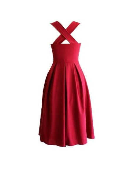 IVY | Flirty Flowing Red Dress - Chateau Hi