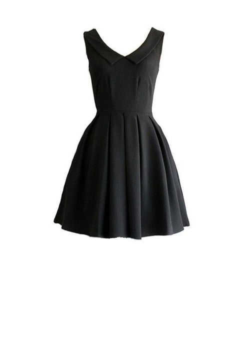 Sunday | A-Line Classic Black Dress