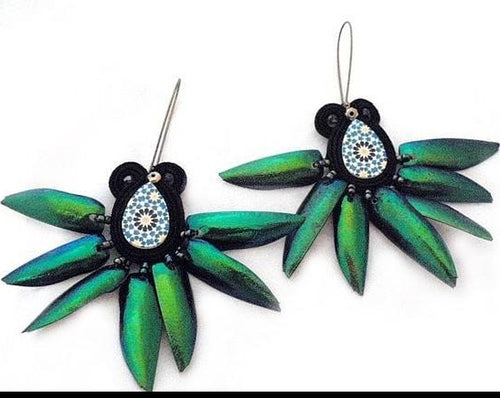 Beetle Earrings