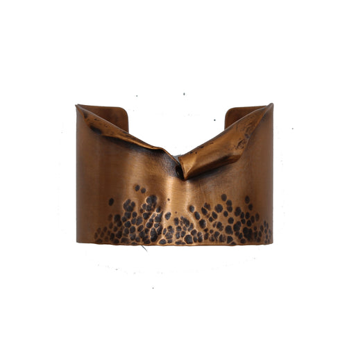 Ripped Hammered Copper Cuff - Chateau Hi