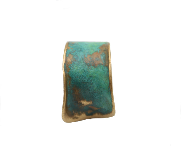 Textured Bronze Patina Cuff Ring