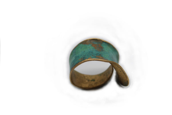 Textured Bronze Patina Cuff Ring - Chateau Hi