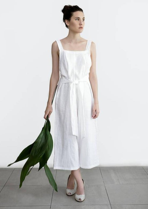 Washed Linen Jumpsuit - Chateau Hi