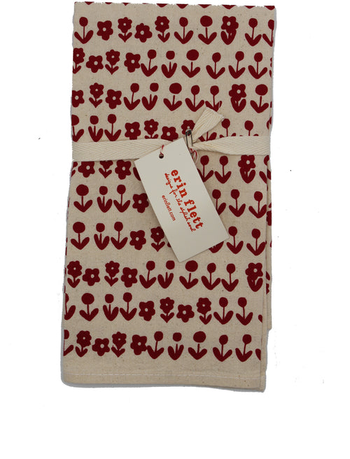 Set of Two Scandi Napkins: Red - Chateau Hi