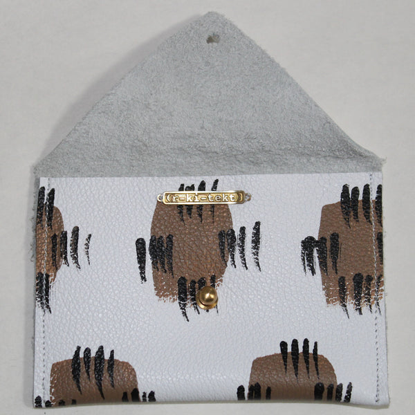 Hand Painted Aida Print Leather Envelope Wallet - Chateau Hi